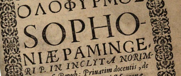 Sophonius Paminger